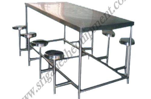 Stainless steel furniture dining table